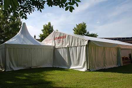 Pagodenzelt und großes Zelt - Party-Service Rohringer